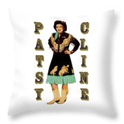 Patsy Cline Throw Pillow