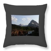 2 Peaks 1 Fall Throw Pillow