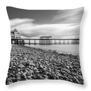 Penarth Pier 5 Throw Pillow