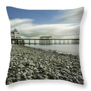 Penarth Pier 6 Throw Pillow