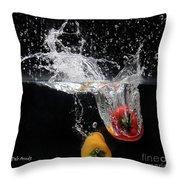2 Pepper Splash Throw Pillow