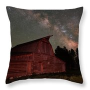 2 Percent Milk At The Moulton Barn Throw Pillow
