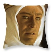 Peter O'toole As Lawrence Of Arabia Throw Pillow