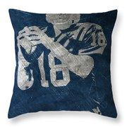 Peyton Manning Colts Throw Pillow