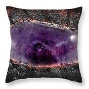 Phantom Amethyst Gemstone  Throw Pillow