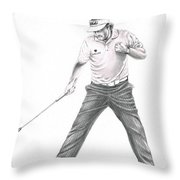 Phil Mickelson Throw Pillow by Murphy Elliott