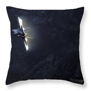 Phoenix Throw Pillow by Angel  Tarantella