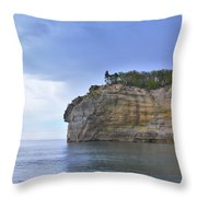 Pictured Rocks Throw Pillow
