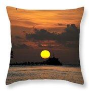 Pier Sunset Throw Pillow
