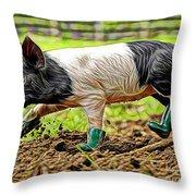 Pig Collection Throw Pillow