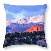 Pikes Peak Throw Pillow