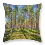 Pinewood Throw Pillow