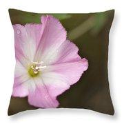 Pink Wildflower Throw Pillow