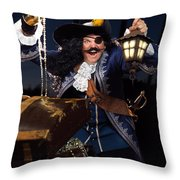 Pirate With A Treasure Chest Throw Pillow