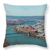 Pittsburg Skyline Throw Pillow