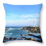Point Arena Lighthouse Throw Pillow by Jim Thompson