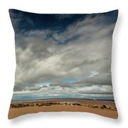 Point Of Ayre Lighthouse Throw Pillow