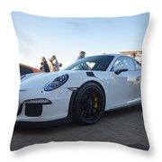 Porsche 911 Gt3rs Throw Pillow