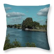 Port Charlotte From Edgewater Throw Pillow
