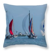 Port Huron To Mackinac Race 2015 Throw Pillow