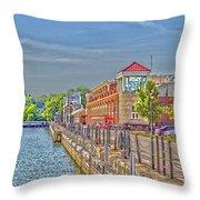 Port Of Rochester Throw Pillow by William Norton