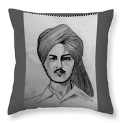 Portrait Art Throw Pillow