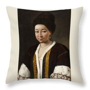 Portrait Of A Russian Lady Throw Pillow