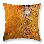Portrait Of Adele Bloch-bauer Throw Pillow
