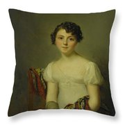 Portrait Of Andrienne Throw Pillow