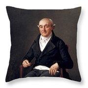 Portrait Of Cooper Penrose Throw Pillow