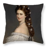 Portrait Of Empress Maria Alexandrovna Throw Pillow