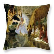 Portrait Of Mlle Fiocre In The Ballet  Throw Pillow
