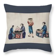 Portraying The Chinese Tea Industry Throw Pillow