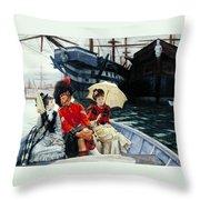 Portsmouth Dockyard Throw Pillow