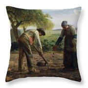 Potato Planters Throw Pillow