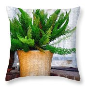 Potted Plant Throw Pillow