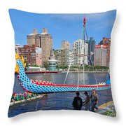 Preparation For The 2016 Dragon Boat Festival Throw Pillow