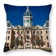 Presidio County Courthouse Throw Pillow