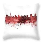Pretoria Skyline In Watercolor Background Throw Pillow