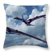 Pterodactyls In Flight Throw Pillow