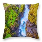 Pyrenees Waterfall Throw Pillow