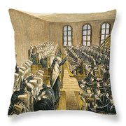Quaker Meeting Throw Pillow