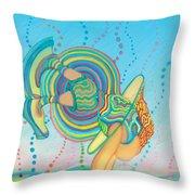 Quantum Leap Throw Pillow