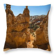 Queens Garden Throw Pillow