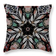 Quilted Starflower Throw Pillow