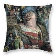 Rabelais: Gargantua, 1873 Throw Pillow by Granger