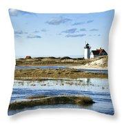 Race Point Lighthouse Throw Pillow