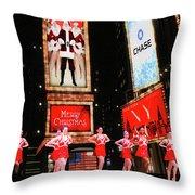 Radio City Rockettes New York City Throw Pillow