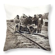 Railroad Workers Throw Pillow