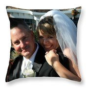 Rebecca And David Throw Pillow